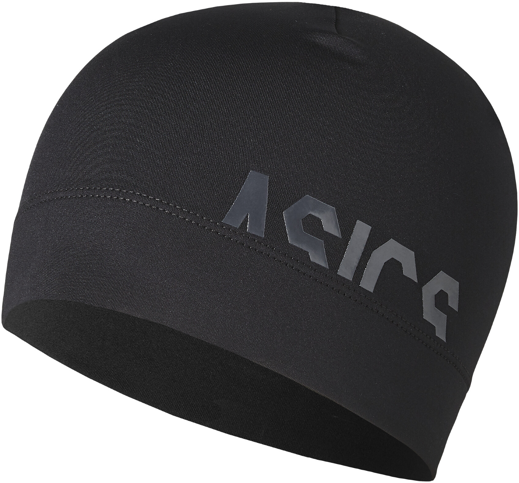asics logo beanie unisex performance black campzde